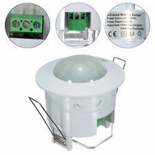 Weiß LED Decken 360° Einbau Bewegungsmelder Infrarot Unterputz Aussen Innen #L1