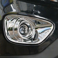 Chrome Front Fog Light Cover Bumper Lamp Bezel Trim Fit Jeep Compass 2011-2013
