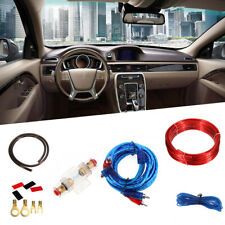Car Speakers Amplifier Wiring 10 Gauge Installation Kit Power Cable For 60A Fuse