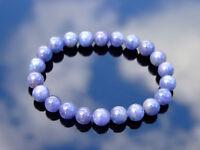 Tanzanite Natural Gemstone Bracelet 6-9'' Elasticated Healing Stone Chakra Reiki