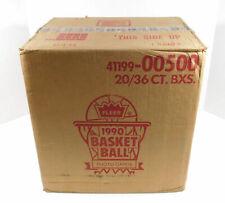 1990 Fleer Basketball Case Sealed (20 Boxes) Last One