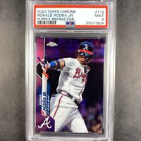 2020 Topps Chrome Ronald Acuna Jr. Purple Refractor /299 PSA 9 MINT