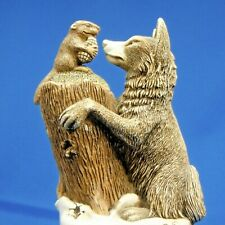 Peace Summit Harmony Kingdom Beaver & Wolf - Free Shipping
