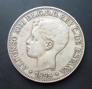 Spanish PUERTO RICO *** ONE PESO (5 PESETAS) *** 1895 *** VERY NICE!