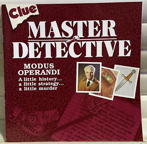 Game Parts Pieces Clue Master Detective 1988 Parker Brothers Rules Instructions