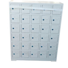 Locker Cabinet w/ 30 Compartments Cellphone Storage Class Camp Security Cabine