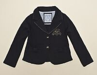 NWT IKKS CARDI MOLLETON couture girls navy jacket cardigan 4 5 6 8 10 12 X517012