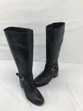 Coach Black Leather Knee High Zip Up Boots Size 7B  H674 LS/