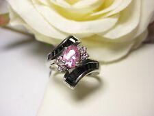 Fingerring Morganite Onyx Ring Schmuck 925 Silber 2 Stempel 18,8 mm