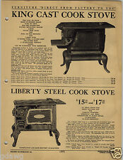 1920 PAPER AD Liberty King Grand Security Imperial Cast Iron Stove Wood Burning
