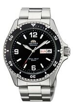 New Orient Black Dial Mako Automatic Diver Silver Men Watch Box 200M  AA02001B