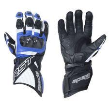 Gants bleu en cuir pour motocyclette Homme