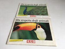2 ALBUM DI FIGURINE ALLA SCOPERTA DEGLI ANIMALI A&O SELEX 1993 COMPLETI LOTTO