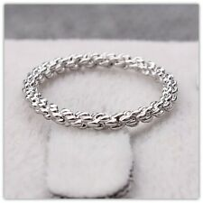 SILVER TWISTED BRAID RING 6.5 Forever Gift Simple Dainty Boho Stack Finger New