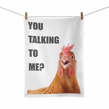 You Talking To Me Chicken Funny Tea Towel