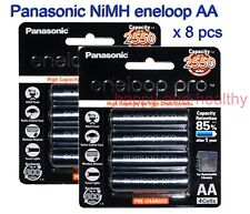 Panasonic eneloop-pro AA Battery x 8 pcs 2550mAh Made in Japan FREE POST