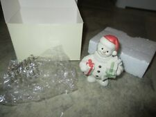 Lenox Christmas Snowman Twelve Months of Snowmen Sculpture Collection - December