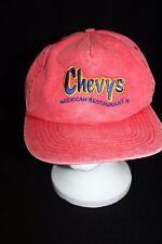 Chevys Mexican Restaurant San Sun snapback men/women employee hat distressed red
