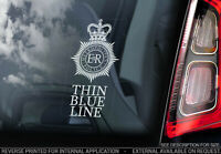 Thin Blue Line - Car Window Sticker - Police GMP Met Decal Force Service Sign V1