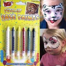 5 PUSH UP FACE PAINT BODY WAX PENCILS PAINTS PARTY DRESS UP KIDS CRAYON
