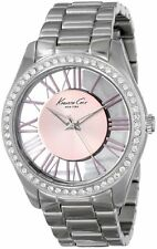 Kenneth Cole NY Women's Quartz Transparent Dial Stainless Steel Watch KC4982