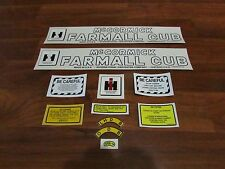 Farmall cub tractor decal set