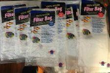 "Blue Ribbon 100% Nylon Filter Bag Lot of 8 Total X's 3 3X8"" & x's 5 4x12"""