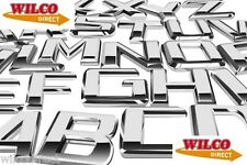 Car Styling Chrome Badges All Letters and Numbers Available Designer Decals