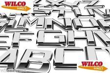 Auto Styling CHROME BADGES tutte le lettere e numeri disponibili