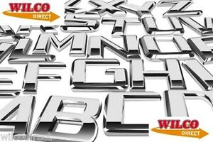 ONE Car Styling Chrome Badges All Letters and Numbers Available Designer Decals