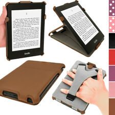 Marrone Eco-Pelle Cover Case Custodia per Amazon Kindle Paperwhite 3G Wi-Fi 2GB