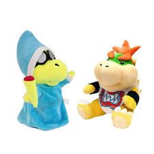2pcs Super Mario Bros Magikoopa Kamek & Bowser Jr. Koopa Plush Doll Stuffed Toy