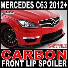 Mercedes C Class C63 2012+ V-Style Carbon Front Lip Spoiler Splitter