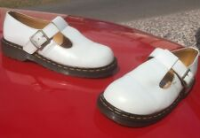 Vintage Dr Martens 5027 white T bar sandals polley UK 7  EU 41