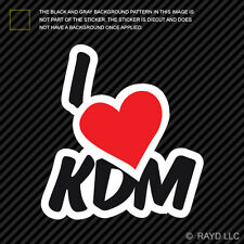 I Love KDM Sticker Decal Self Adhesive Vinyl korea korean