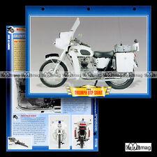 #045.06 Fiche Moto TRIUMPH 6T THUNDERBIRD SAINT POLICE 6TP '65 Motorcycle Card