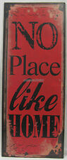 76x30cm Rustic Country Tin Wall Sign No Place Like Home A Lovely Wall Decoration