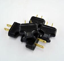5-Pack Vintage BLACK Antique Style Electrical Plug - Lamp Cord - Lamp Rewire