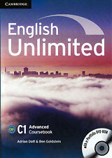 Cambridge ENGLISH UNLIMITED ADVANCED C1 Coursebook with e-Portfolio DVD-ROM @NEW