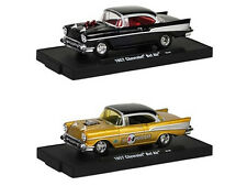 DRIVERS 1957 CHEVROLET BEL AIR  2 CAR SET W/CASES RELEASE 18A 1/64 M2 12228-18A