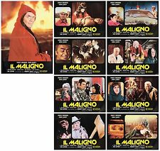 IL MALIGNO SET FOTOBUSTE 8+SOGG WILLIAM SHATNER 1975 THE DEVIL'S RAIN LOBBY CARD