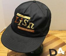 VINTAGE LISN INCORPORATED ELECTRIC TRUCKERS SNAPBACK HAT BLACK VGC D4