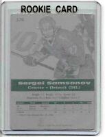 1/1 SERGEI SAMSONOV 1996 SCORE BOARD PRINT PLATE 176 IHL VIPERS ICE HOCKEY RC