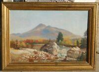 Benjamin Champney 1817-1907 oil/canvas 12 x 18 MA/NH artist
