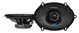 "Pair ALPINE S-S57 230 Watt 5x7"" or 6x8"" Coaxial 2-Way Car Audio Speakers"