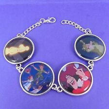 PETER PAN BRACELET disney big ben vintage neverland tinkerbell captain hook croc