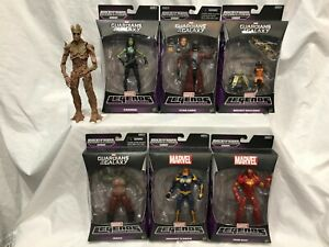Marvel Legends GROOT BAF Set of 6 GUARDIANS OF THE GALAXY IRON MAN GAMORA DRAX