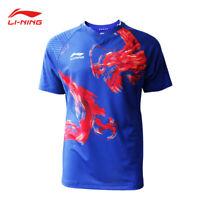 2019 New Li Ning Quick-drying men's Tops tennis clothes T shirt Dragon print