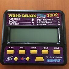 Radica Video Deuces Poker Royal Flush 2000 Electronic Handheld Game Model 415