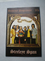 STEELEYE SPAN 1974 Now We Are Six TOUR PROGRAMME Maddy Prior FOLK ROCK PROG